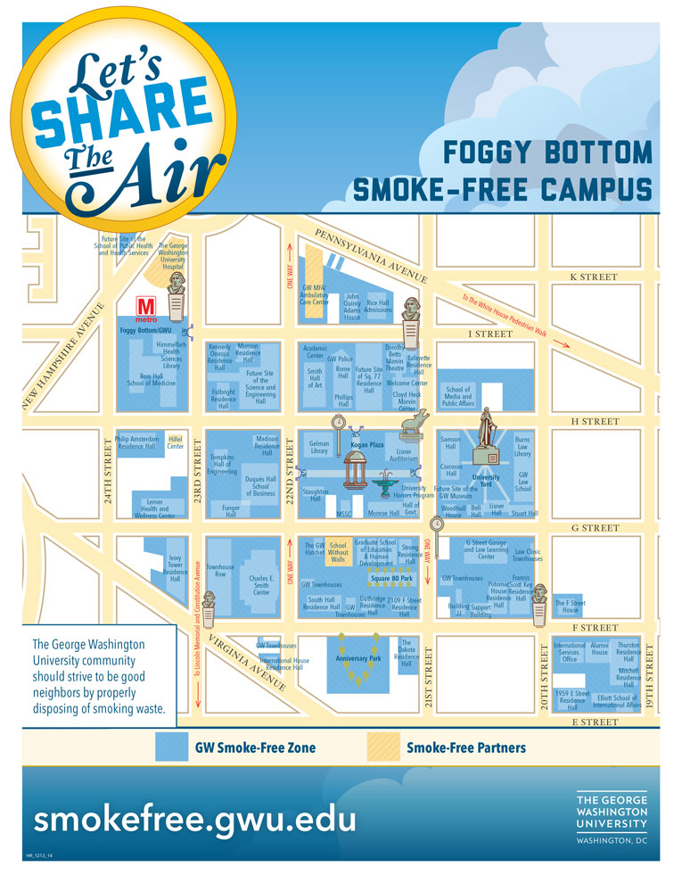 Gwu Mount Vernon Campus Map.Smoke Free Campus Maps Smoke Free Gw The George Washington